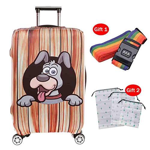Preisvergleich Produktbild Suitcase Cover Kofferabdeckung Polyester Dicke,  verschleißfeste 3D-Cartoon-Koffer-Schutzhülle Staubdichte Schutzhülle für das Reisen zu Hause, 4, S