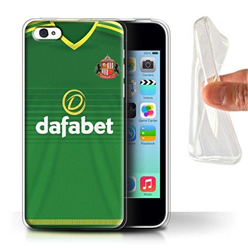 Officiel Sunderland AFC Coque / Etui Gel TPU pour Apple iPhone 5C / Pack 24pcs Design / SAFC Maillot Extérieur 15/16 Collection Footballeur