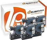 Bubprint 5 Schriftbänder kompatibel für Dymo 45013 S0720530 für Labelmanager 100 120 150 160 200 Labelpoint 100 150 200 250 300 schwarz auf weiß 12mm x 7m