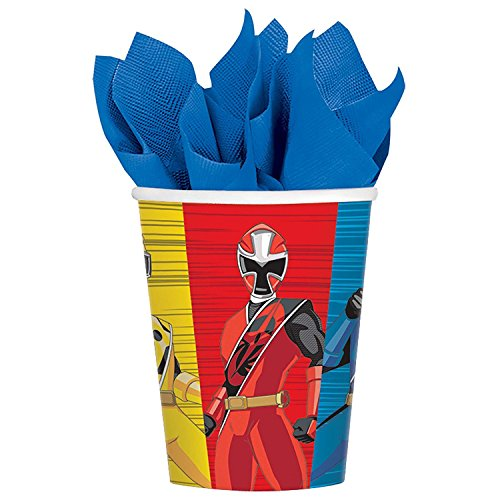 Steel 9oz Paper Party Cups, 8-Pack (Power-ranger-party)