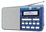 Dual DAB 4.1 T Tragbares Digitalradio (UKW/DAB(+)-Tuner, Sendersuchlauffunktion, Festspeichertasten, Kopfhöreranschluss (3,5 mm), LCD-Display) Blau