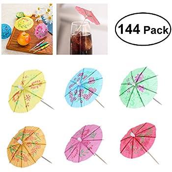 144 Deko Picker 10 cm farbig sortiert Eisschirmchen uni Eisdekoration Cocktail