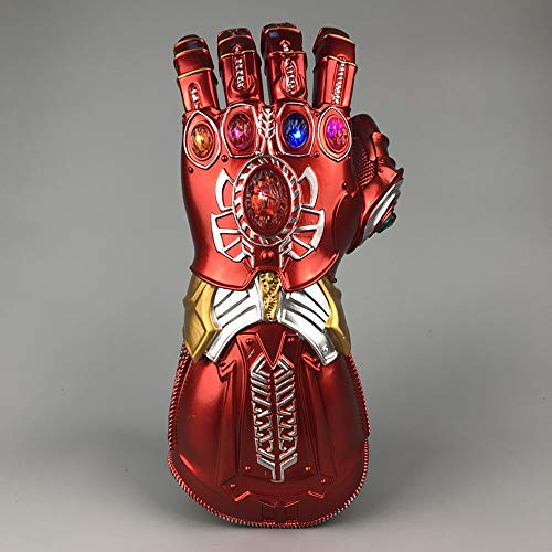 Fan-prop (K-Y YK Iron Man Red Gloves Avengers 4 Role Playing Fans Props Halloween Costume Heroes Play Children's Gloves Toys (Children 29cm))