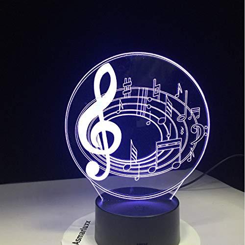 Neuheit Kronleuchter (Nachtlicht Romantische Musik Hinweis 7 Farbwechsel Tischlampe 3D Led Bett Basis Dekor Neuheit Kronleuchter Weihnachtsgeschenk FüR Kinder)
