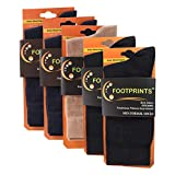 #9: FootPrints Organic Cotton and Bamboo Men's Formal Socks Pack of 5 -( 2 Black, 1 Beige, 2Navy)