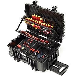 Wiha 9300703 Boîte à outils XXL pour électriciens, outils VDE, 115pièces