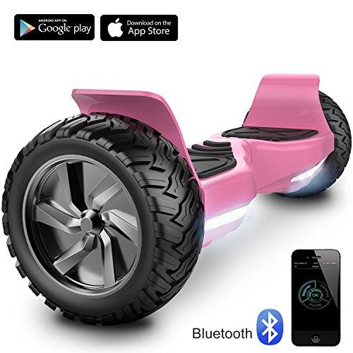 "Challenger Basic 8,5\"" Self Balance Scooter Elektro Scooter E-Balance E-Skateboard Elektroroller SUV mit Offroad-Reifen APP Funktion Bluetooth Tasche (Pink)"