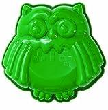 Haushaltsdose Silikonbackform Mini-Eule grün