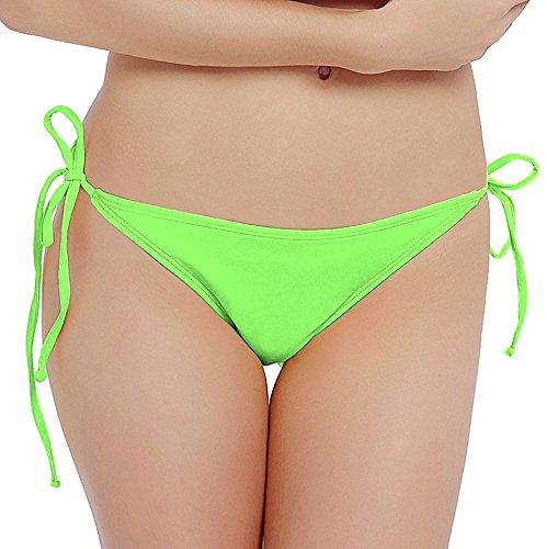 Ecute Damen Bikini Slip Brazilian Bottom Badehose Strand Mini Bikinihose Cheeky Badeanzüge Grün