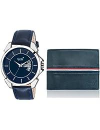 [Sponsored]Ajanta's Analogue Blue Dial Men's Watch & Wallet Combo - Aq-Diplo-011011-Cp-02334