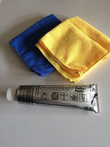 Elsterglanz Silber Polierpaste 150 ml und 2 Microfasertücher