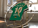 Bundesliga Fußball-Uhrim Trikot-Design –personalisierbar SV Werder Bremen