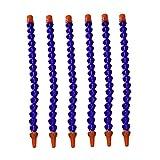 Kühlmittelrohr aus Kunststoff Runddüse Wasserschlauch Flexible Öl Kühlrohrschlauch ohne Schalter für Lathe Fräsen CNC-Maschine Hydraulische Strömungsmaschinen 400mm 6Pcs
