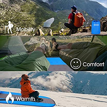 SGODDE Inflatable Sleeping Mat Camping Self Inflating Sleeping Pad with Pillow, Compact Lightweight Mattress Inflatable Roll Up Foam Bed Pads for Outdoor Backpacking Hiking 6