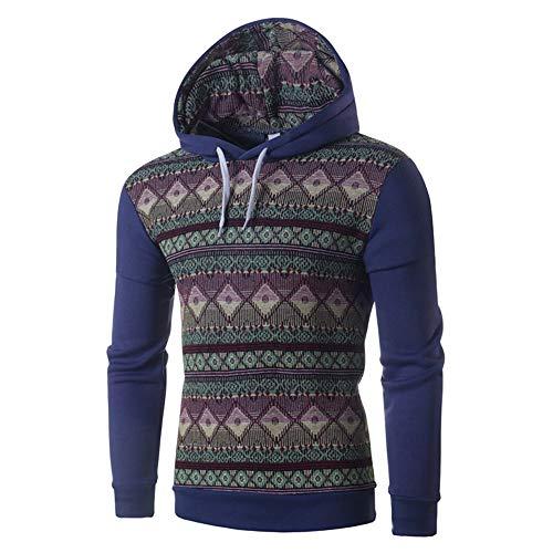 en Komfortable Ethnic Style Und Freizeit Farbige Hut Und Wache Kleidung Cowboy Blau XXL ()