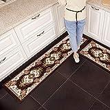 jimaofei Küchenmatte Lange Streifen rutschfeste Matte Matte Teppich kann in der Maschine gewaschen Werden, 165 Kaffee_50 * 180CM