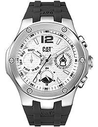 CAT Navigo Multi Men's Watch White Dial Black Silicone Strap A114921232