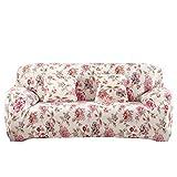 Hoomall 2 Sitzer Sofabezug Elastische Stretchhusse Sofa Abdeckung Sesselhusse in verschiedenen Farben im Abstand 145-185 cm Schwarz
