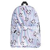 Kfnire Mode Einhorn Studenten Rucksack Kinderrucksäcke Teenager Schultasche Damen Schultertasche Reisetasche Casual Daypacks (Einhorn)