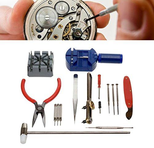 Kit de 16 pièces pour réparation de montres et petits d