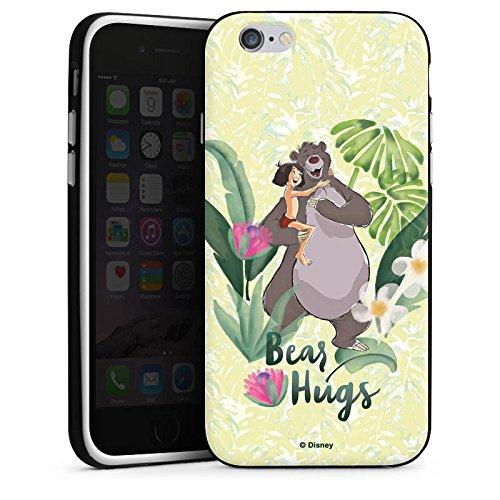 Apple iPhone X Silikon Hülle Case Schutzhülle Dschungelbuch Mowgli & Baloo Disney Silikon Case schwarz / weiß