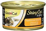 GimCat ShinyCat in Jelly Thunfisch – Katzenfutter mit Thunfisch in Gelee für ausgewachsene Katzen – 24 Dosen (24 x 70 g)