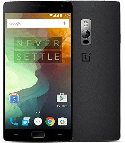 """ONEPLUS TWO 5,5"""" con Qualcomm snapDragon 810, processore Octa-Core, 4 GB di RAM e 64 GB di memoria interna ROM, fotocamera frontale da 5 MP e posteriore da 16 GB, 4G e Android 5.1, Nero"""