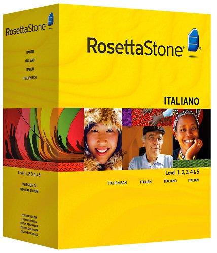 Rosetta Stone Version 3: Italienisch Stufe 1,2,3,4&5 Set Persönliche Edition inkl. Audio Companion™