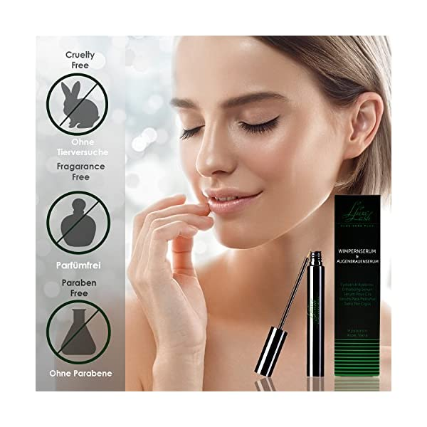 Luxe Lash Aloe Vera + | Eyelash serum & eyebrow serum – 8 ml. Bottle | Crecimiento rápido de pestañas para pestañas…