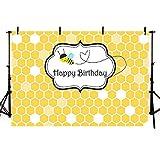 MEHOFOTO Fondo de Fotos de Dibujos Animados para niños, Fondo de cumpleaños para fotografía, 7 x 5 pies