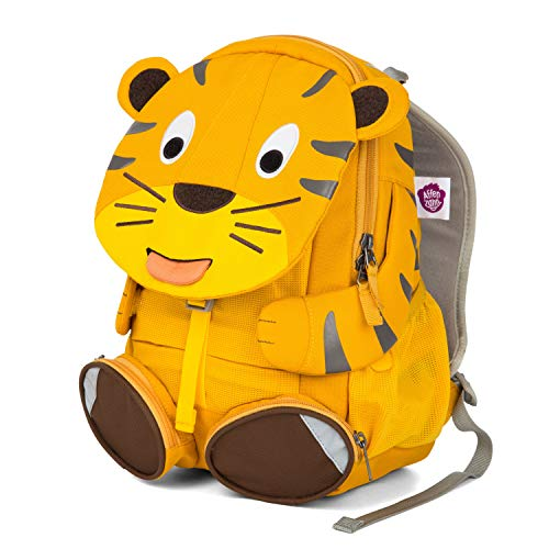 Affenzahn Large Friend Theo Tiger Yellow Kinder-Rucksack, 31 cm, 8 Liter, Yellow