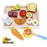 YISSVIC Fruits Légumes Jouets en Bois Jouet Cuisine Enfants Jouets à Découper Jeu Imitation Magnetique Cadeau pour Enfants de 3 à 7 A