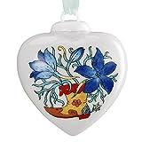 Hutschenreuther 02256-727100-27840 Porzellan-Mini-Herz Feldrittersporn im Geschenkkarton, Höhe 4,5 cm