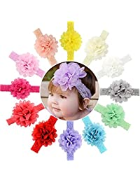 Premium Quality Multicolor Floral Flower Baby Head Bands Edition Baby Hair Bands (Pack Of 10)