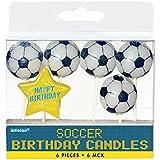 Fußball Geburtstagskerzen, 6 Stück