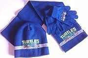 Nickelodeon-Set 3pezzi di abbigliamento invernale-Tartaruga Ninja, berretto, guanti e sciarpa per bambini taglia unica composto da un cappello, una sciarpa e un paio di guanti indispensabile per questo inverno. Maglia piacevole da indoss...