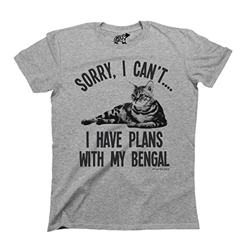 sorry-i-cant-i-have-plans-with-my-bengal-katze-breed-t-shirt-herren-damen-unisex