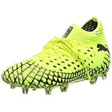Puma Future 4.1 Netfit Fg/AG Jr, Scarpe da Calcio Unisex-Adulto, Giallo (Yellow Alert Black), 37 EU