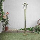 Rustikale Gartenlaterne Wegeleuchte Gold Antik E27 IP44 Aussenlampe Laterne Stehleuchte Terrasse Hof