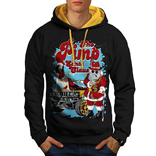 Weihnachtsmann Claus Heiß Weihnachten Herren S Kontrast Kapuzenpullover   (Halloween Kostüme Süß Aber Heiße)