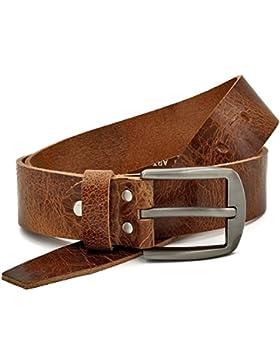 marrón Vintage Cinturón de piel de búfalo cuero 40 mm de ancho y aprox 3-4 mm de grueso, puede acortarse, cinturón...