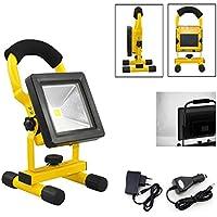 Hengda® lampada da lavoro a mano lampada faretto proiettore batteria illuminazione faro faretto Super sottile (10W Bianca Fredda)