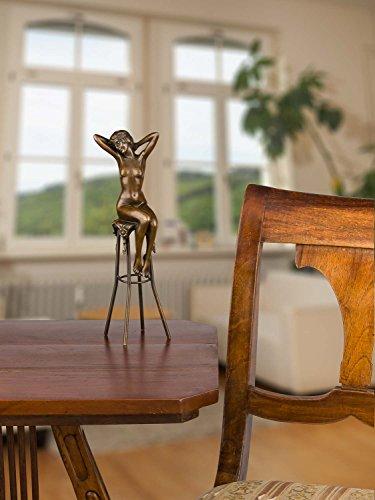 Bronzeskulptur Bronze Figur Akt Frau nach Chiparus Skulptur Antik-Stil Replik