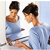 #2: 50*50: HKFV Unique Superb Creative Home Bathroom Wall-Mounted Vanity Mirrors Wall Sticker Mirrors Rectangle Self Adhesive Room Bathroom Home Decor Stick On Art (50*50)