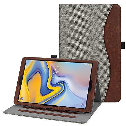 Fintie Hülle für Samsung Galaxy Tab A 10.5 2018 - Multi-Winkel Betrachtung Kunstleder Schutzhülle Case mit Auto Schlaf/Wach Funktion für Galaxy Tab A (10.5 Zoll) SM-T590/T595 Tablet, Denim grau