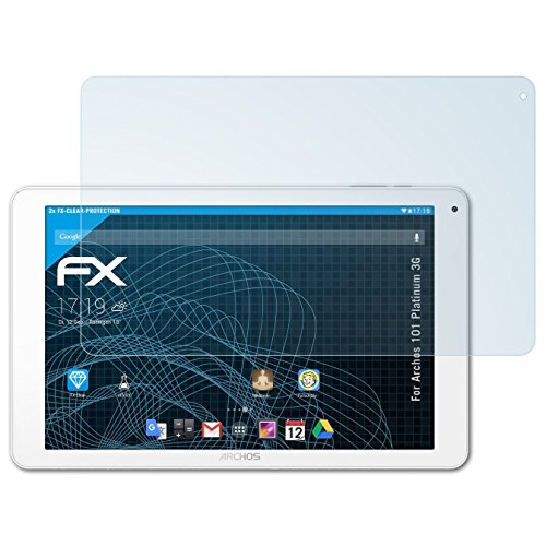 atFolix Schutzfolie kompatibel mit Archos 101 Platinum 3G Folie, ultraklare FX Displayschutzfolie (2X)