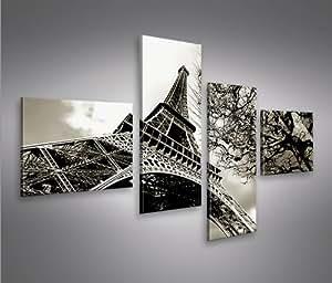 islandburner bild bilder auf leinwand eiffelturm 4l paris xxl poster leinwandbild. Black Bedroom Furniture Sets. Home Design Ideas