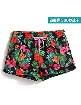 HAIYOUVK Holiday Stretch Beach Pants Female Quick-Drying Large Size Slim Casual Shorts Hot Spring Pants Floating...