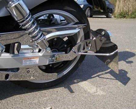 Zietech Support de plaque d'immatriculation pour genscher sur le côté Harley Davidson FXD modèles 06-, chrome