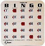 Regal Spiele Holzmaserung/Tan Fingertip Shutter Slide Bingo Karten -